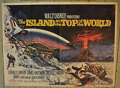 Island at the Top of the World- OriginalUK Quad Film Poster - 1974