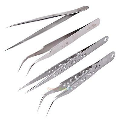 1PC Make-up Tool Anti-Static Tweezers Eyelash Extension Stainless Steel Tool NEW