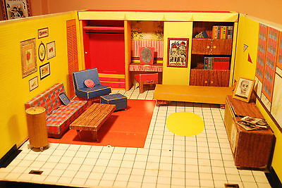 Vintage 1962 Barbie's Dream House w/ Furniture