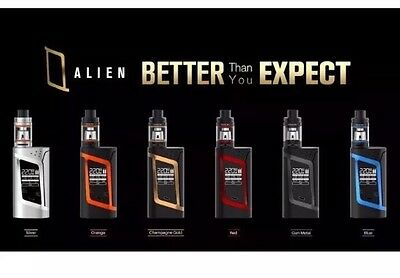 AUTHENTIC SMOK ALIEN KIT - 220W TC MOD - TFV8 BABY TANK + 2 Batteries + Charger