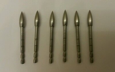 6 x TopHat 150gr Tungsten points for Easton X10 Arrow Shafts