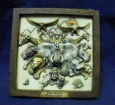 "Picturesque Harmony Kingdom ""Storm Brewing"" Framed 3-Dimensional Tile"