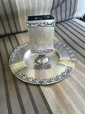Tiffany & Co Sterling Silver Ash Tray Monogram Monogrammed Dated 1906