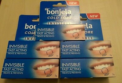5 x 2g Bonjela Invisible Cold Sore Cream