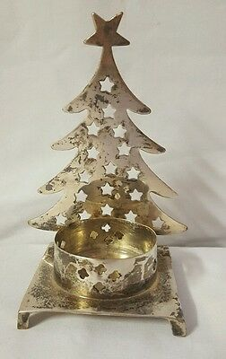 Vintage Christmas Tree Candle Holder