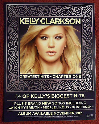 Music Promo Sticker Kelly Clarkson ~ Greatest Hits