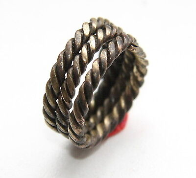 Ancient Old Viking Bronze Spiral Twisted Ring (NOW02)