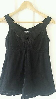 Maternity top black singlet Patch Size Small