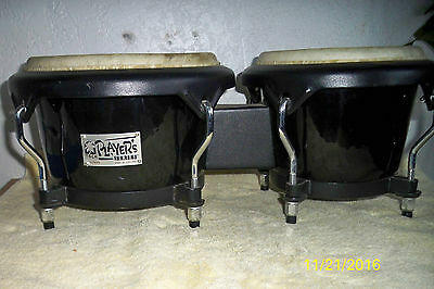 "Toca Player's Series Bongos Black 8"" & 6 1/2"" Drums"