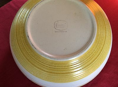 Hacienda gold FRANCISCAN salad SERVING vegetable bowl POTTERY vintage 10 1/2""