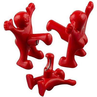 New Perky Red Happy Little Man Soda Bear Bottle Opener Bar Novelty Kitchen Tools