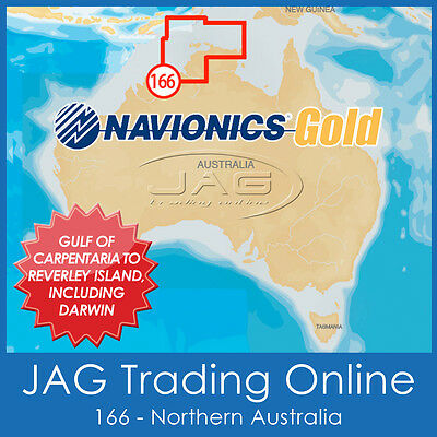 Navionics Gold Small Card - 8G166S Northern Australia Nt Darwin - Gps Map Chart
