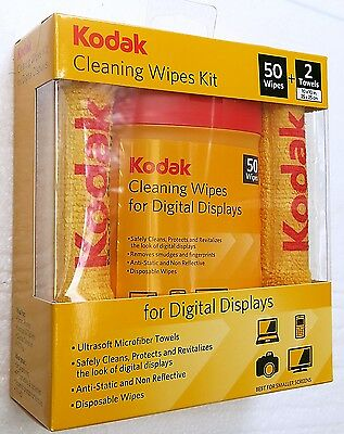 CLEANING WIPES KIT for Digital Camera lenses, TV Displays, Monitors, etc. NEW
