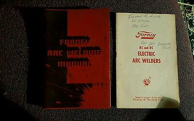 Vintage 1957 Forney Arc Welding Manual with Instruction Booklet & Parts Catalog