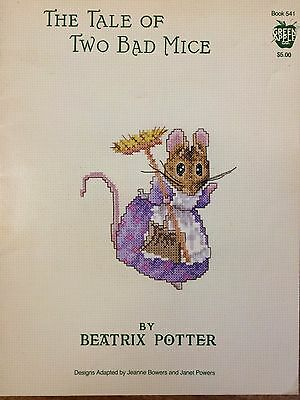 The Tale of Two Bad Mice by Beatrix Potter - Cross Stitch Pattern  -NEW