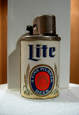 Miller Lite - Authentic Vintage Beer Can Lighter - The Champagne Of Beers