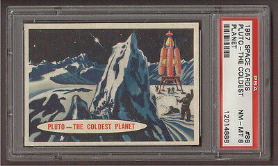 1957 Topps 'space Cards' #86 Pluto - The Coldest Planet, Psa Nm-Mt 8 (Pop 3)