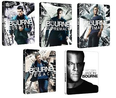 The Bourne Steelbook Complete Collection 5-Movies Blu Ray (Region Free)