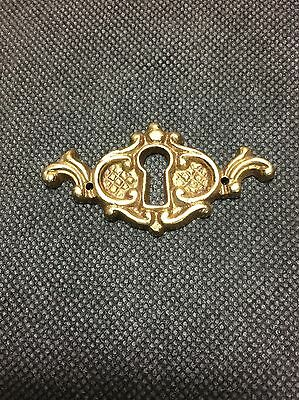 Vintage Keyhole Cover Escutcheon Brass Victorian Keyplate Door
