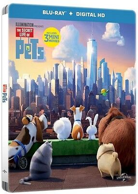 The Secret Life of Pets Limited Edition Steelbook Blu Ray (Region Free)