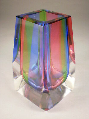 Multicoloured Small Glass Vase (Chip)