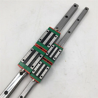 HGR35 Linear Rail Guideway & 2pc Rail Block HGH35CA Rail Block Carriage