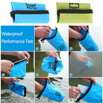 New 1.5L Waterproof Dry Bag Pouch Outdoor Sport Swimming Drifting Boating UK