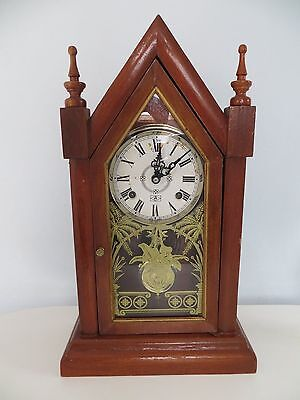Vintage Centurion 35 Day Gothic Steeple Cathedral Mantle | Shelf Clock with Key