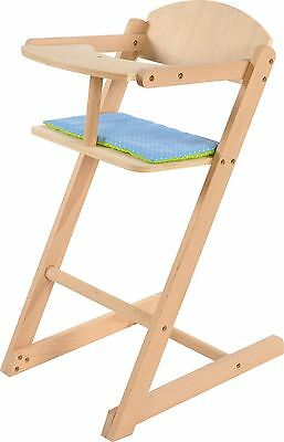 Knorrtoys 66013Doll's High Chair Natural Wood Untreated