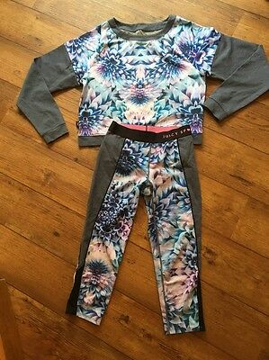 Stunning BNWOT Juicy Couture Sport XS Gym Suit Track Suit Running Top & Pants