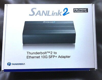 Promise SANLink2 SFP+ 10GbE to Thunderbolt2 Interface (new and boxed)