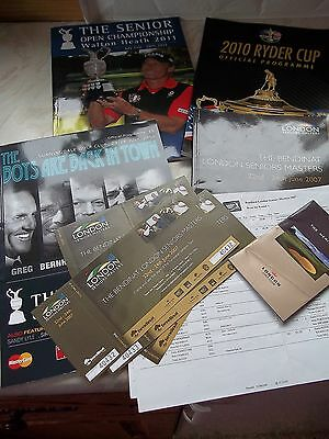 4 Golf programmes + Tickets etc. - 1 From The Ryder Cup 3 From The Seniors Tour