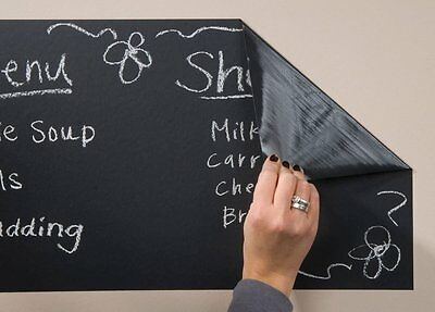 Self Adhesive Removable Blackboard Vinyl Wall Sticker With 5 Chalks Included