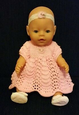 "Baby Born Doll (17"") With Blue Eyes & Lashes, Comes With 3 New Outfits"