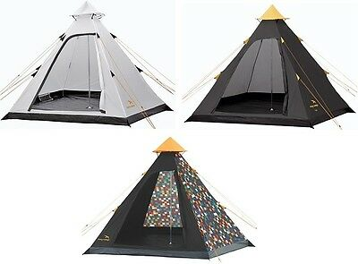 Easy Camp Carnival 4-Man Tipi Tent Festival Camping /BLACK, CUSTOM WHITE, PIXEL