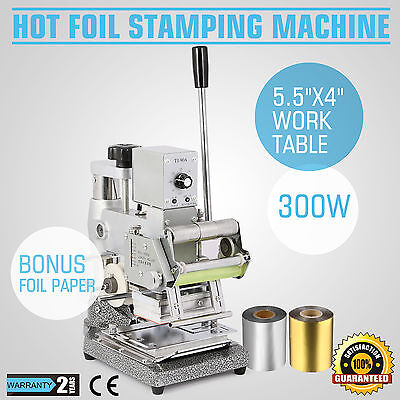 2 Foil Paper+Stamping Machine Hot Foil Embossing Leather Credit Remarkable