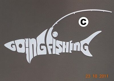 Going Fishing for 4WD Shark with Fishing Rod and Reel Sticker