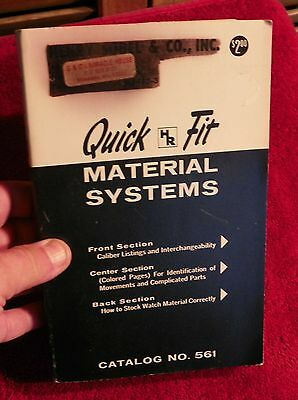C & E Marshall Quick Fit # 561 Catalog of wristwatch repairs reference