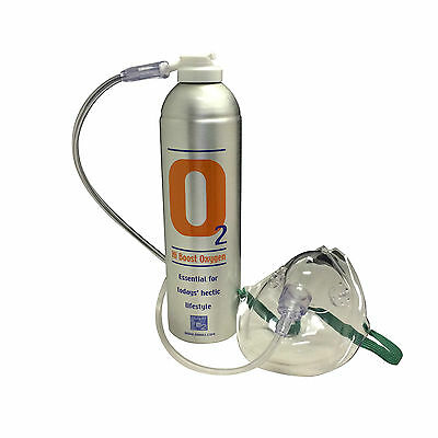 1 x Pure Oxygen 7.2 Litre cans with 1 x Mask and 1.8 M Tubing, Portable Oxygen