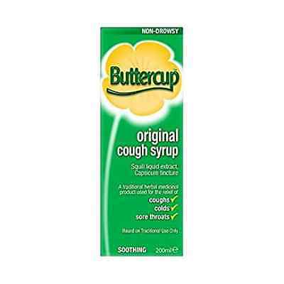 Buttercup Cough Mixture Syrup Original 200ml Cold Or Sore Throat Relief