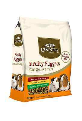 Country Value Fruity Nuggets Pet Food for Guinea Pigs 10kg FAST FREE DELIVERY