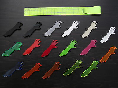 5x Zombie Hands laser cut acrylic charms/cabochons DIY jewellery making crafts