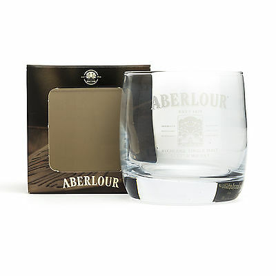 Aberlour Whiskey Short Glass Heavy Tumblar Genuine Official Branded New Boxed