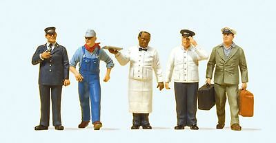 Preiser 65355 5 Figures, US railway personnel for O gauge/ Scale 1:43,5/ 1:45