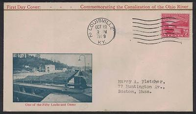 US SC# 681 FDC (681-18) Nickles Cachet 1929 Ohio River Canal Issue