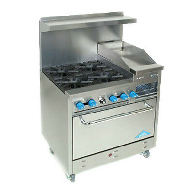 "Comstock Castle F330-12B 36"" Gas Restaurant Range with Griddle/Broiler"
