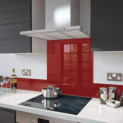 Deep Red Toughened Glass Splashback Various Sizes - Heat Resistant to 500°C