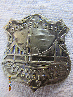 Golden Gate Exhibition Badge Token San Francisco 1939