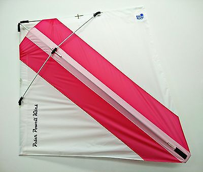 PETER POWELL Dual Line Stunt Kite MKIII WHITE-PINK Adults Kids Outdoor Sport Toy