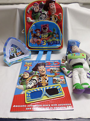 Toy Story 3 Back pack and Buzz Lightyear Plush bundle
